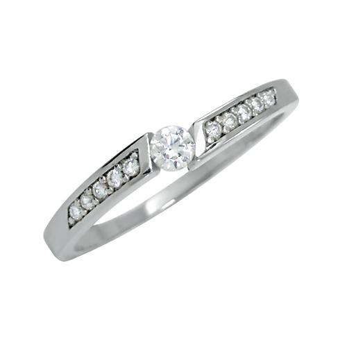 Zásnubní prsten s více brilianty